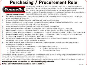 Purchasing / Procurement Role