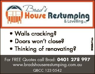 Walls cracking?  Doors won't close?  Thinking of renovating?...