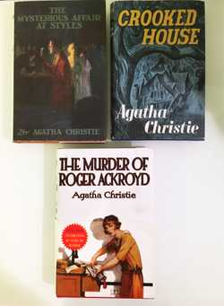 3 HC books, The mysterious affair at styles, crooked house, murder of Rger Ackroyd