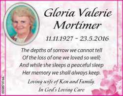 Gloria Valerie Mortimer