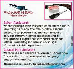 Casual Hairdresser: We require a Snr freelance hairdresser 1-2 days p/wk. This position can be devel...