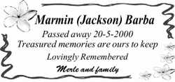 Passed away 20-5-2000 Treasured memories are ours to keep Lovingly Remembered Merle and fam...