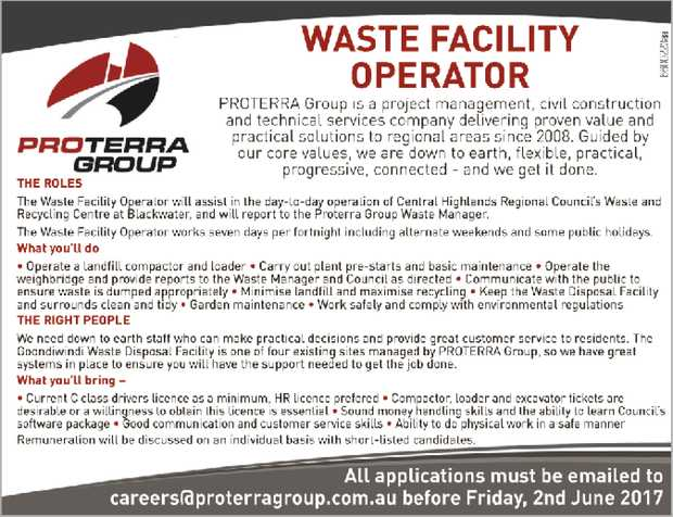 WASTE FACILITY OPERATOR