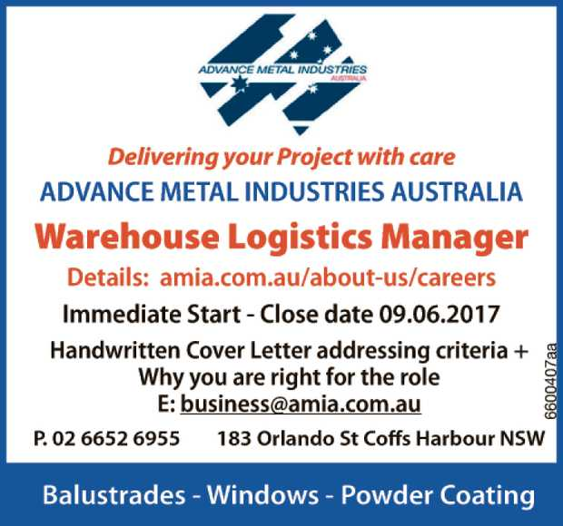 Warehouse Logistics Manager