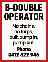 No chains, no tarps, bulk pump in, pump out.