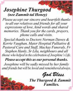 Please accept our sincere and heartfelt thanks to all our relatives and friends for all you...
