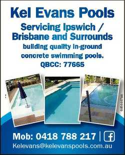 Kel Evans Pools Servicing Ipswich / Brisbane and Surrounds 6484447aa building quality in-ground conc...