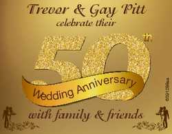 Trevor & Gay Pitt n Wedding An iversary with family & friends 6591288aa celebrate their