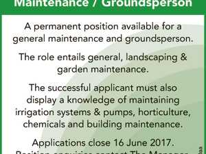 Maintenance /Groundsperson