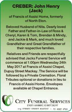 CREBER: John Henry (Jack) of Francis of Assisi Home, formerly of North Eton. Beloved Husband of Nita...