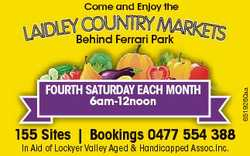 Come and Enjoy the FOURTH SATURDAY EACH MONTH 6am-12noon 155 Sites | Bookings 0477 554 388 In Aid...