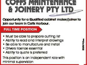 Opportunity for a Qualified cabinet maker/joiner to join our team in Coffs Harbour. * Must be able to prepare cutting list * Ability to read and interpret drawings * Be able to manufacture and install * Drivers licence essential * Ability to quote is preferred This position is an independent role with minimal supervision ...