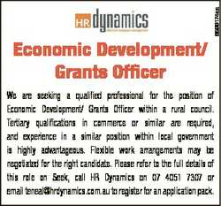 6599174aa Economic Development/ Grants Officer We are seeking a qualified professional for the posit...