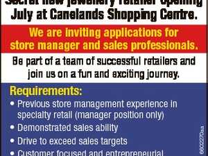Secret new jewellery retailer opening July at Canelands Shopping Centre