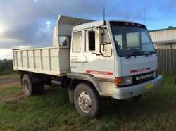 1985 Mitsubishi diesel Tipper, registered to Dec 2017; reg CB47XL.  Good tyres & spare; good batteri...