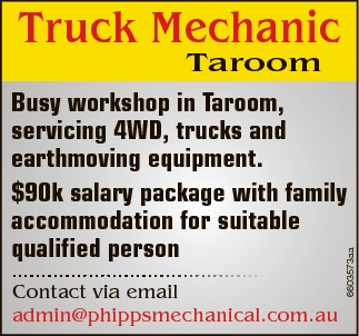 Taroom Contact via email admin@phippsmechanical.com.au Busy workshop in Taroom, servicing 4WD, tr...