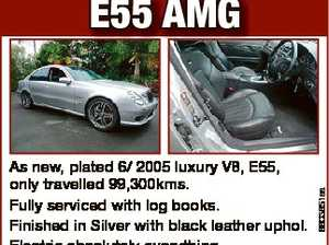 As new, plated 6/ 2005 luxury V8, E55, only travelled 99,300kms. Fully serviced with log books. Finished in Silver with black leather uphol. Electric absolutely everything. Sat Nav. Sun roof. Brand new Pirelli tyres. Always garaged. First to inspect will buy at $42,000. Phone owner M 0418 798702 ...