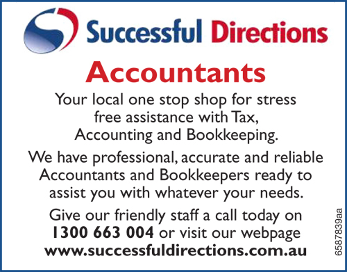Your local one stop shop for stress free assistance with Tax, Accounting and Bookkeeping.