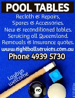 POOL TABLES   Recloth & Repairs, Spares & Accessories. New & reconditioned tables...