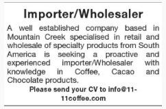Importer/Wholesaler