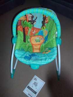 3-in-1, Recline, Vibration, Harness, ToyBar, Ex Cond, $20 Ph:0407128809