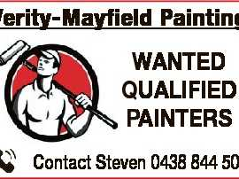 WANTED QUALIFIED PAINTERS Contact Steven 0438 844 508 6605504aa Verity-Mayfield Painting