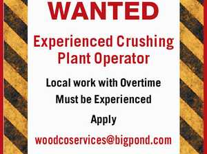 Experienced Crushing Plant Operator