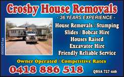 Crosby House removals 36 years experience House Removals/ Stumpng Slides / Bobcat HIre Houses Rai...