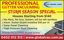 PROFESSIONAL GUTTER VACUUMING
