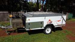 Australian made  on-road camper trailer. Inner spring mattresses, sleeps 4. Heaps of storage. Store...