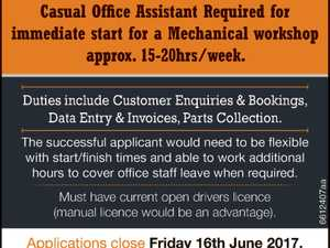 CASUAL OFFICE ASSISTANT REQUIRED
