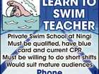 LEARN TO SWIM TEACHER