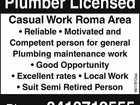 Plumber Licensed