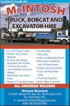 McIntosh Truck, Bobcat and Excavator Hire