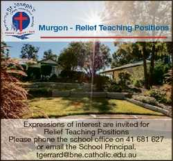 Murgon - Relief Teaching Positions Expressions of interest are invited for Relief Teaching Positions...