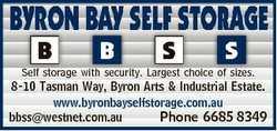 Self storage with security. Largest choice of sizes. 8-10 Tasman Way, Byron Arts & Industrial Es...