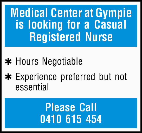 Medical Center at Gympie is looking for a Casual Registered Nurse