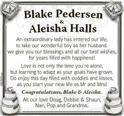 6623865aa dersen Blake Pe & Aleisha Halls An extraordinary lady has entered our life, to take ou...