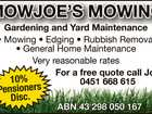 MOWJOES MOWING