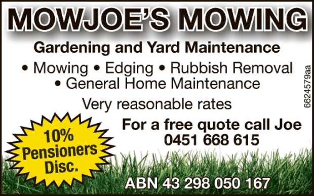 Gardening and Yard Maintenance
