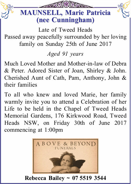 Late of Tweed Heads