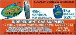 INDEPENDENT PENDE GAS SUPPLIER UPPLIER 10 Kite Crescent Murwillumbah * Ph: 1300 727 013 swapabottle@...