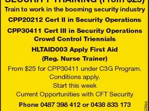 SECURITY TRAINING (From $25)