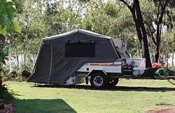 KIMBERLY Kamper off road trailer, complete kitchen, 60L water tank, q/bed with storage under bed,...