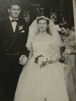 Priston- Campbell. Denis & Elaine nee Campbell married at St Andrews Church Cambridge on 29th June 1...