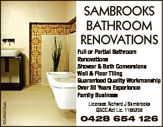 Full or Partial Bathroom Renovations