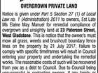 OVERGROWN PRIVATE LAND