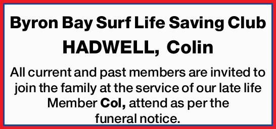HADWELL, Colin