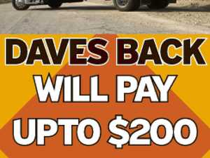 WILL PAY UP TO $200   Daves Back    Will pay $200 for any complete 6cyl car   Going or not & more for others.    Call Dave 0400 167 646