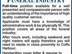 FUNERAL INDUSTRY ROLE